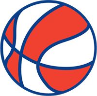 clip Vector blue and white. Basketball red stripes logo