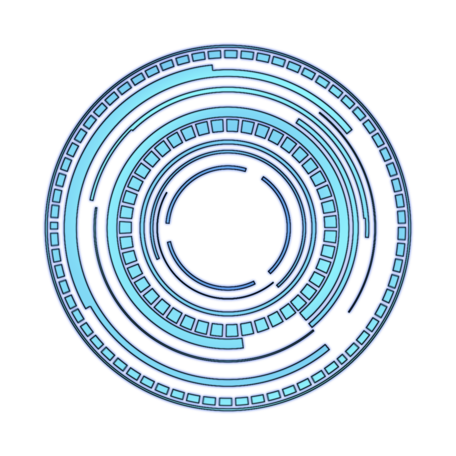 clip art library library Vector blue futuristic.  hud for free