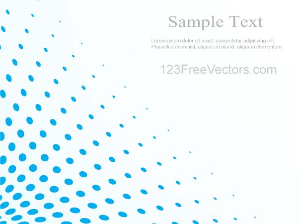 free stock Vector blue illustrator. Halftone dot pattern background