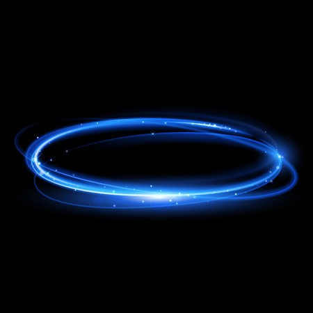 clip art free library Trail circle neon glowing. Vector blue light