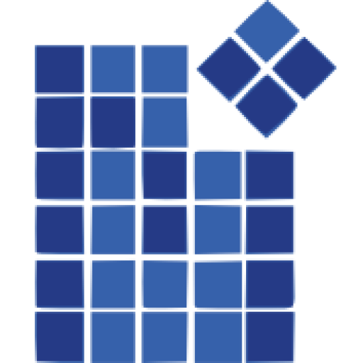 clip black and white library Vector blue mosaic. Mosaicmodeling at escape