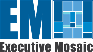 jpg transparent stock Executive logo ai free. Vector blue mosaic
