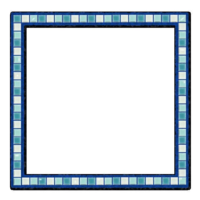 picture royalty free download Aqua border frame mosaics. Vector blue mosaic