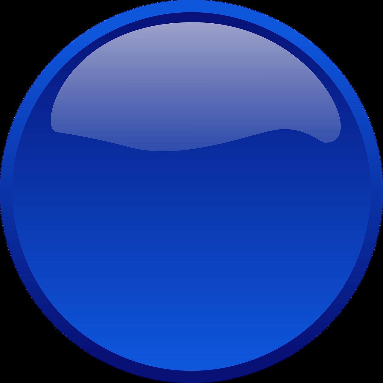 transparent download Button circle glass free. Vector blue shape