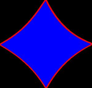 black and white stock Vector blue shape. Diamond clip art at