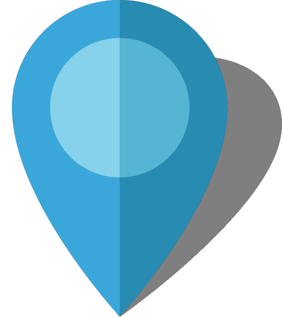clipart library library Location map pin icon. Vector blue simple
