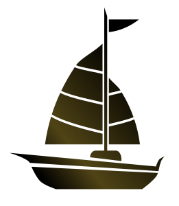 svg transparent library Simple sailboat by leeann. Vector boat abstract