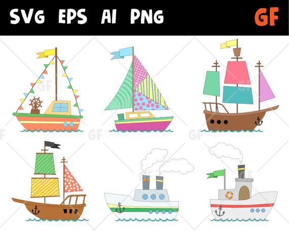 clip transparent library Vector boat clip art. Ships clipart nautical ship