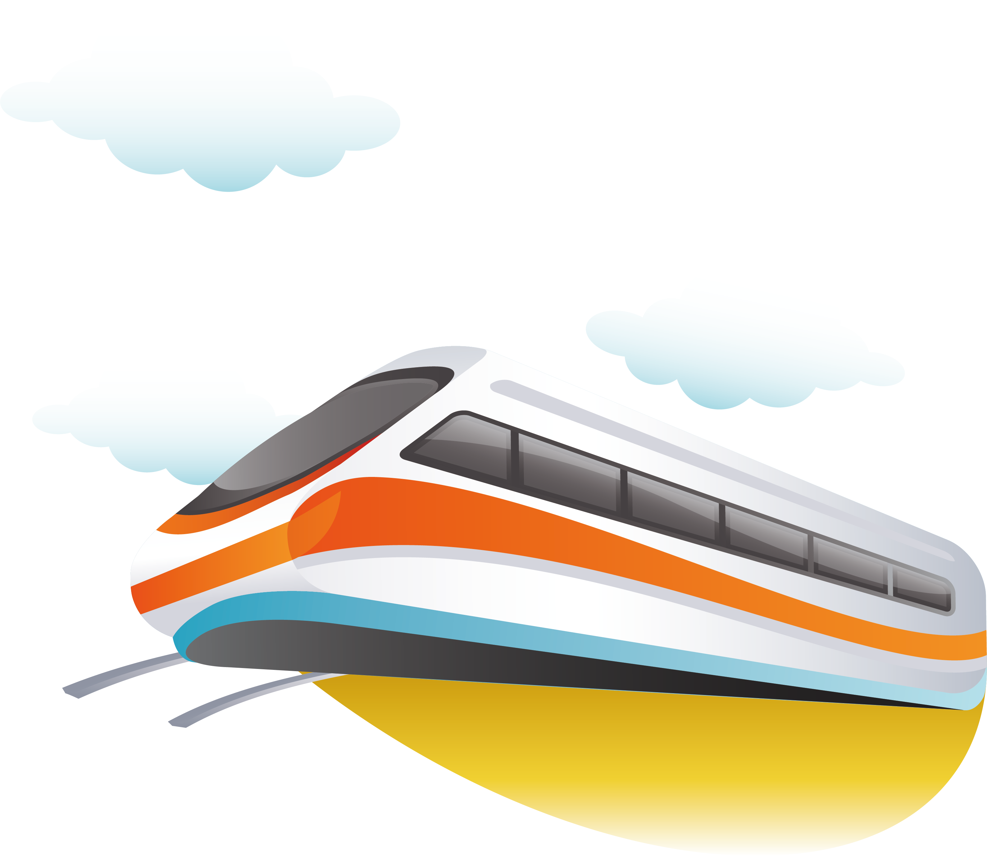 svg free download Vector boat element. Train rail transport line