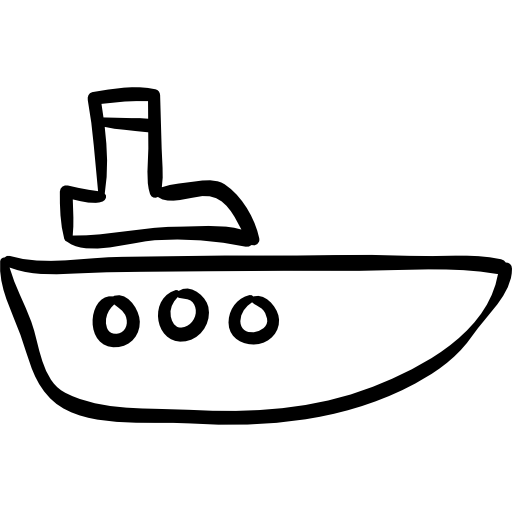vector freeuse stock Vector boat hand drawn. Outline free transport icons