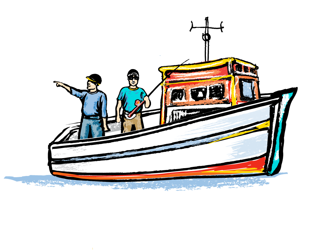 picture free download Vector boat illustrator. Raster traditional media illustrations