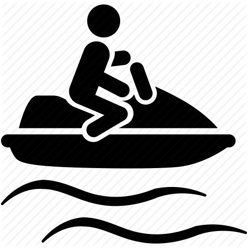 picture library library Vector boat jet. Water sports and recreation