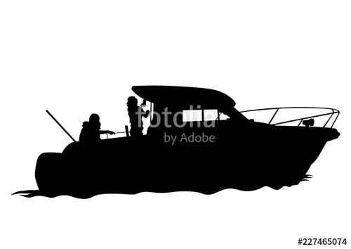image stock Vector boat motor. Sports on white background