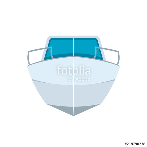 image black and white library Front view icon stock. Vector boat motor