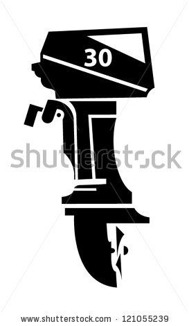 vector transparent download Outboard illustration stock . Vector boat motor