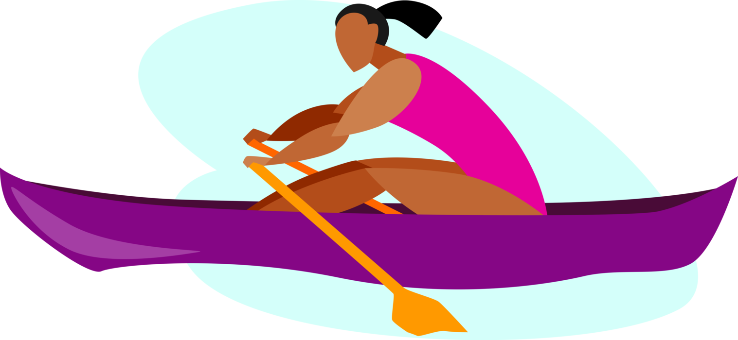 clip art transparent download Vector boat rowing. Rower rows with oars