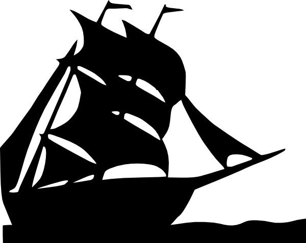 jpg free stock Vector boat silhouette. Sailing clip art free
