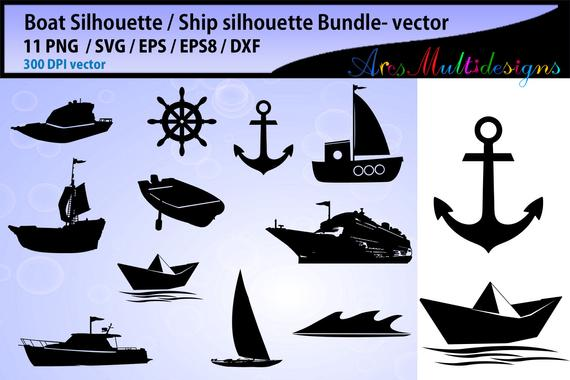 svg black and white stock Svg anchor sailor ship. Vector boat silhouette