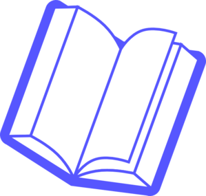 picture transparent library Book clip art at. Vector books blue