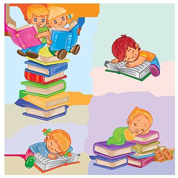 graphic transparent stock Reading book png vectors. Vector books cartoon