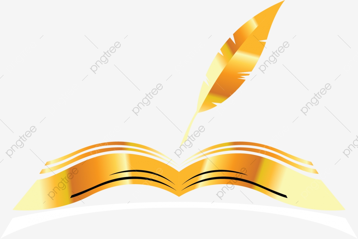 clip art transparent library Vector books cartoon. Golden book open illustration