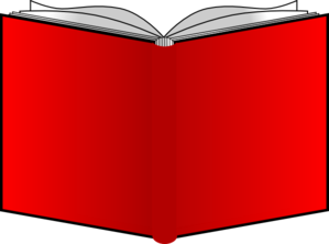 png black and white library Vector books cover. Openbook red covers clip