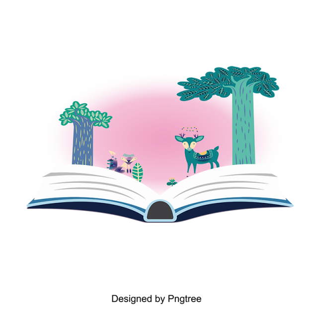 image freeuse library Cartoon hand painted simple. Vector books design