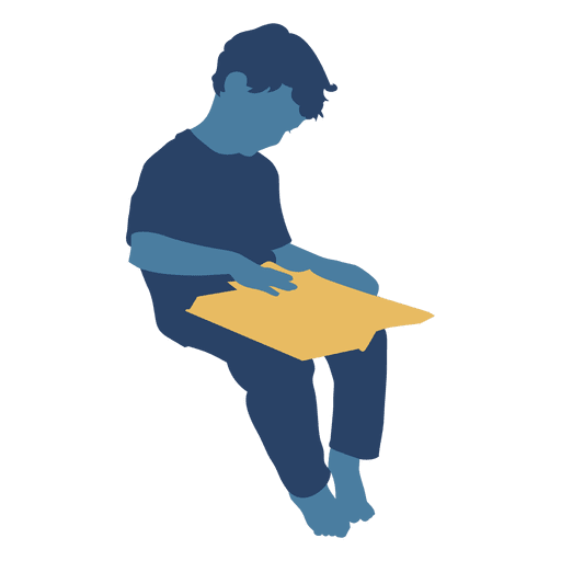 picture free download Vector books graphic novel. Boy reading book silhouette