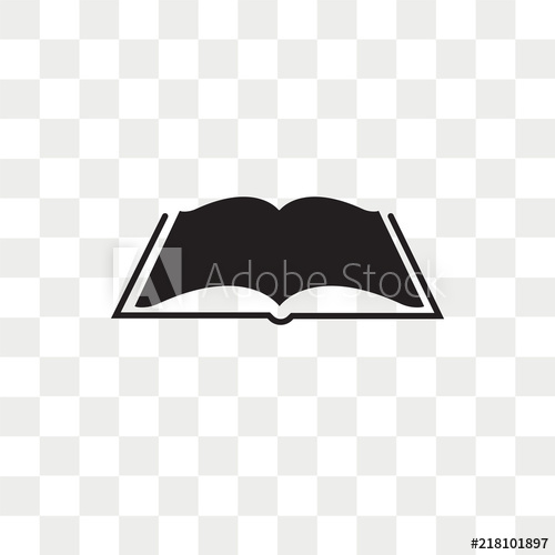 image royalty free library Vector books transparent background. Open book icon isolated