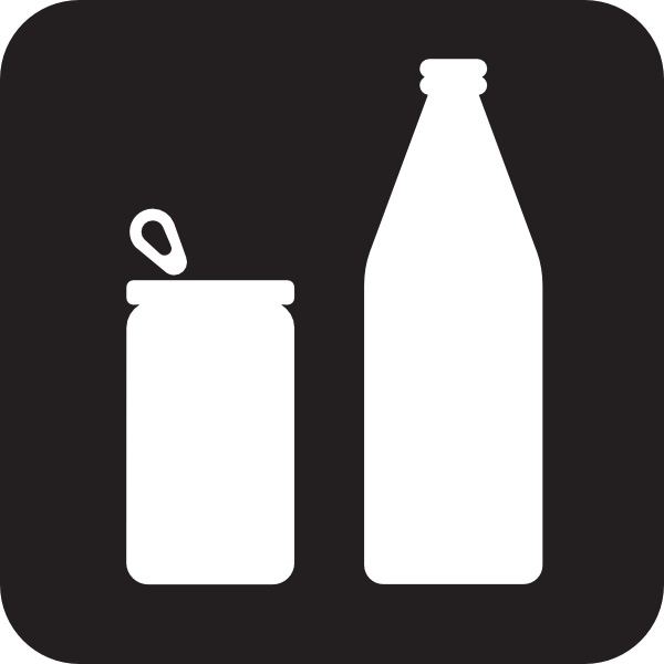 free download Cans or bottles clip. Vector bottle black and white