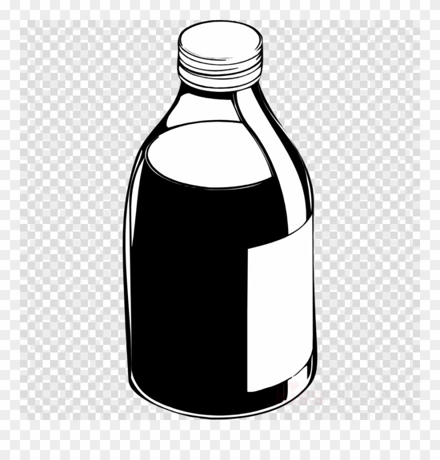 clip art transparent library Vector bottle black and white. Download medicine clipart