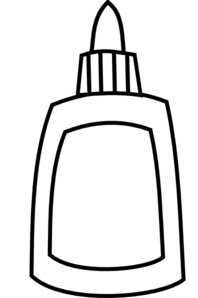 clip art freeuse Glue clipart . Vector bottle black and white