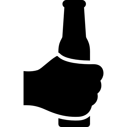 banner black and white Vector bottle hand holding.  png for free