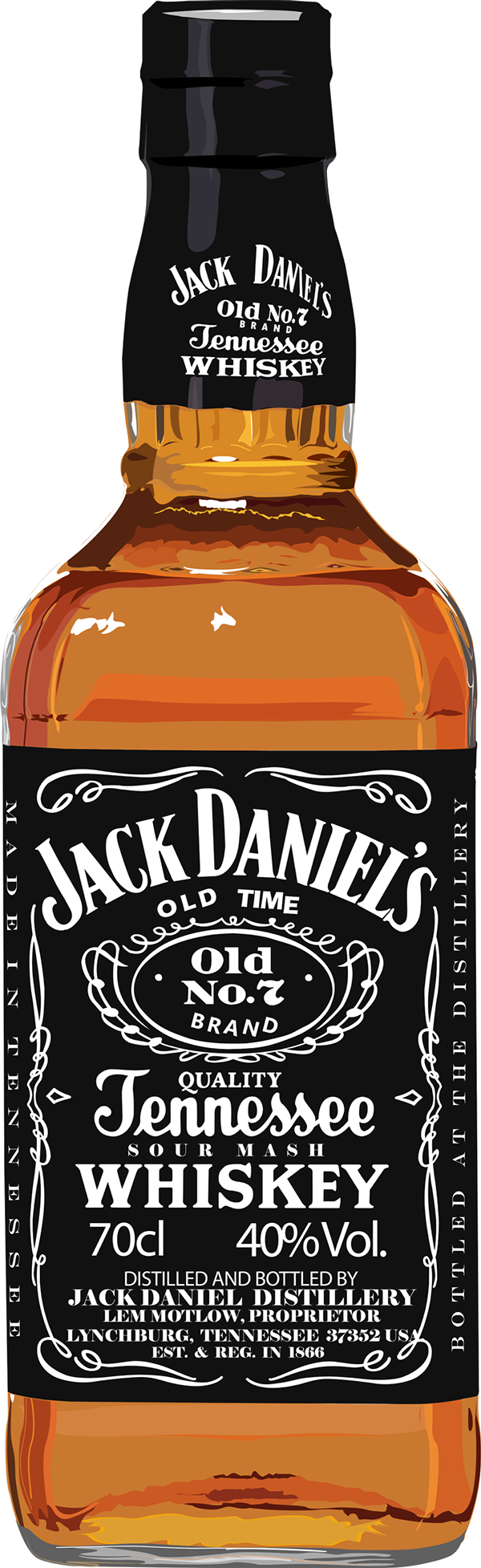 jpg freeuse stock Jack daniel s old. Vector bottle illustrator