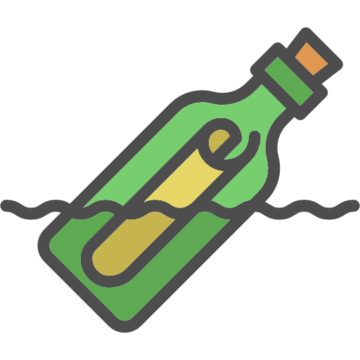 clipart library library In a free icons. Vector bottle message
