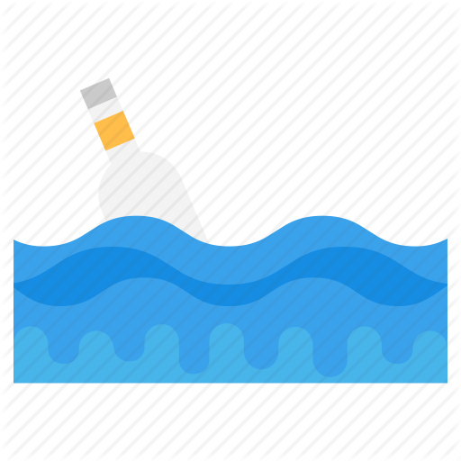 banner royalty free stock Sea life by vectors. Vector bottle message