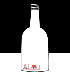 clipart library library Vector bottle outline. Simple clip art at