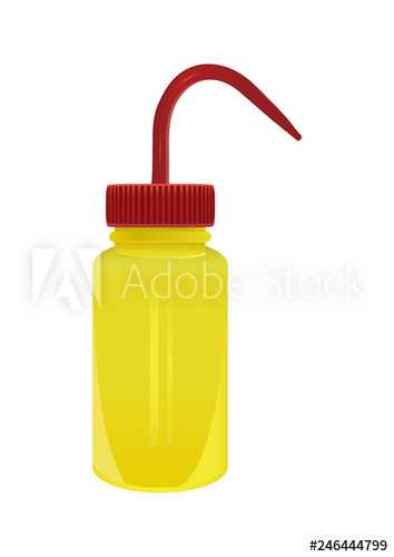 png freeuse library Vector bottle science. Plastic laboratory yellow wash