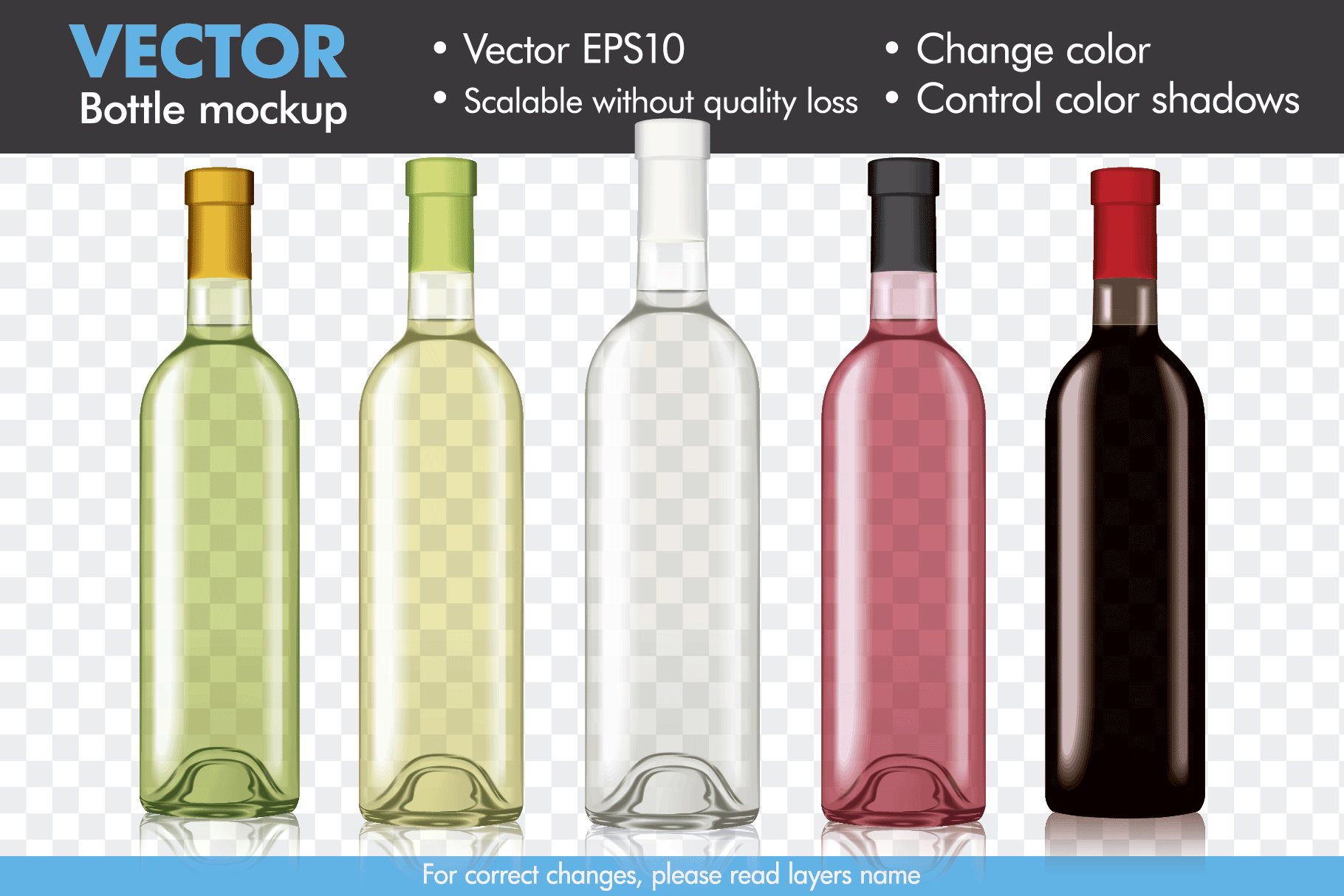 image library stock Wine mock up mockup. Vector bottle template
