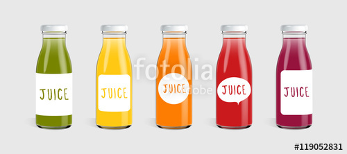 clip art transparent download Vector bottle template. Glass juice with label
