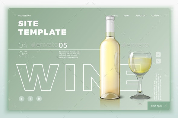 png free stock Site with wine and. Vector bottle template