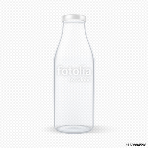 vector royalty free library Realistic closed empty glass. Vector bottle transparent