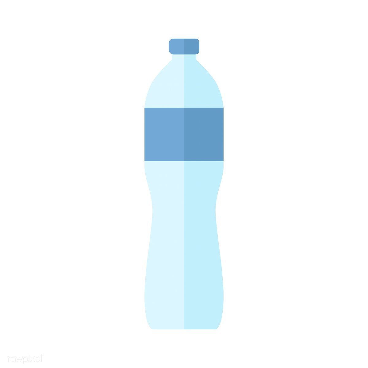 clipart transparent library Vector bottle water. Simple illustration of a