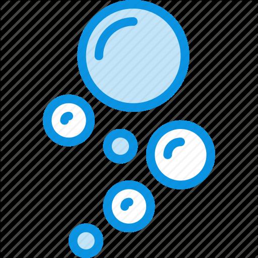 clip art Unigrid bluetone nature vol. Vector bubble air