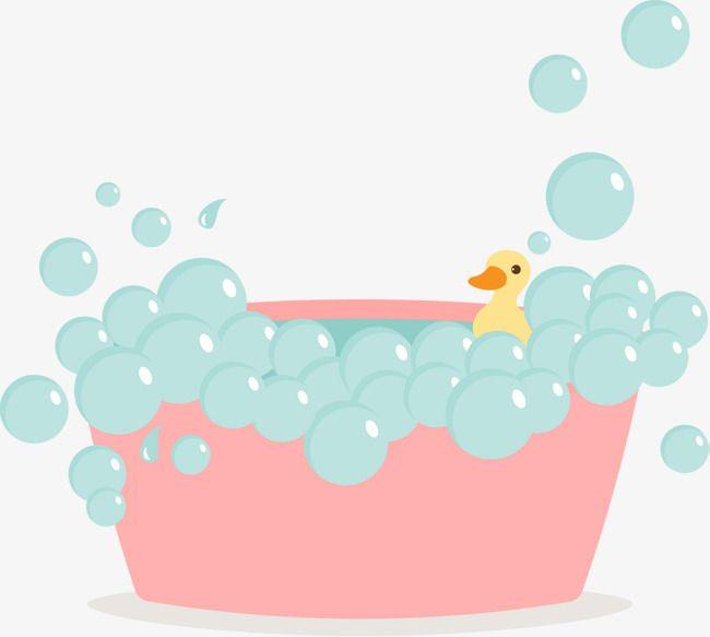 picture black and white Pink cute pictures bubbles. Vector bubble bath