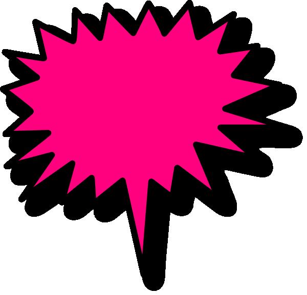 vector freeuse Vector bubble blurb. Pink comic clip art