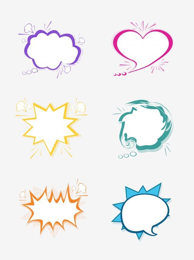 jpg stock Cartoon cute png . Vector bubble border