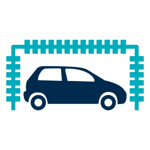 banner In tunnel icon transparent. Vector bubble car wash