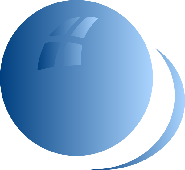 picture black and white library Blue clip art at. Vector bubble circle