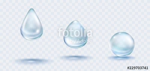 clip art library stock Water rain drops set. Vector bubble clear